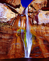 Lower Calf Creek Falls, Proposed Escalante Wilderness, Utah, Calf Creek, morning