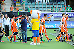 The Hague, Netherlands, June 06: Stockey watches the player of Germany and The Netherlands as they walk in before the field hockey group match (Men - Group B) between Germany and The Netherlands on June 6, 2014 during the World Cup 2014 at Kyocera Stadium in The Hague, Netherlands. Final score 0-1 (0-1) (Photo by Dirk Markgraf / www.265-images.com) *** Local caption ***