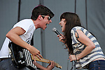 Tony Smith and Alex Kandel of Sleeper Agent perform during the Hangout Music Fest in Gulf Shores, Alabama on May 18, 2012.
