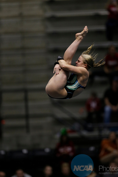 INDIANAPOLIS, IN - MARCH 18: Rebecca Quesnel of Florida International dives in the platform diving event during the Division I Women's Swimming & Diving Championships held at the Indiana University Natatorium on March 18, 2017 in Indianapolis, Indiana. (Photo by A.J. Mast/NCAA Photos via Getty Images)