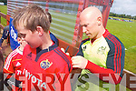 The Munster teams visit to Tralee Rugby club on Friday for an open training session which ran in conjunction with the Munster Rugby Summer Camp. Peter Stringer signing autographs for the fans.