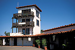 Airport control tower at isolated rural Airport-in-the-Sky, Catalina Island, California Island in the Sky, Catalina Island, California