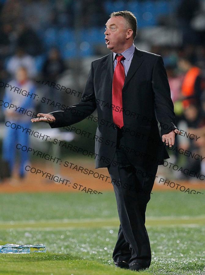 Fudbal Soccer<br /> World Cup 2014 qualifiers match<br /> Serbia v Macedonia<br /> Head coach Zoran Stratev<br /> Jagodina, 15.10.2013.<br /> foto: Srdjan Stevanovic/Starsportphoto &copy;
