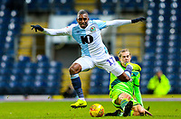 Blackburn Rovers' Amari'i Bell is fouled by Norwich City's Todd Cantwell<br /> <br /> Photographer Alex Dodd/CameraSport<br /> <br /> The EFL Sky Bet Championship - Blackburn Rovers v Norwich City - Saturday 22nd December 2018 - Ewood Park - Blackburn<br /> <br /> World Copyright © 2018 CameraSport. All rights reserved. 43 Linden Ave. Countesthorpe. Leicester. England. LE8 5PG - Tel: +44 (0) 116 277 4147 - admin@camerasport.com - www.camerasport.com