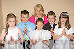 Pupils from Glencar NS who received their First Holy Communion in Glencar on Sunday l-r: Amy Dunphy, John O'Connor, Eileen Magann, Cora Cronin, Christopher Scannell and Ciara Sheehan