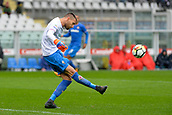 18th March 2018, Stadio Olimpico di Torino, Turin, Italy; Serie A football, Torino versus Fiorentina; Marco Sportiello crosses the ball into the box