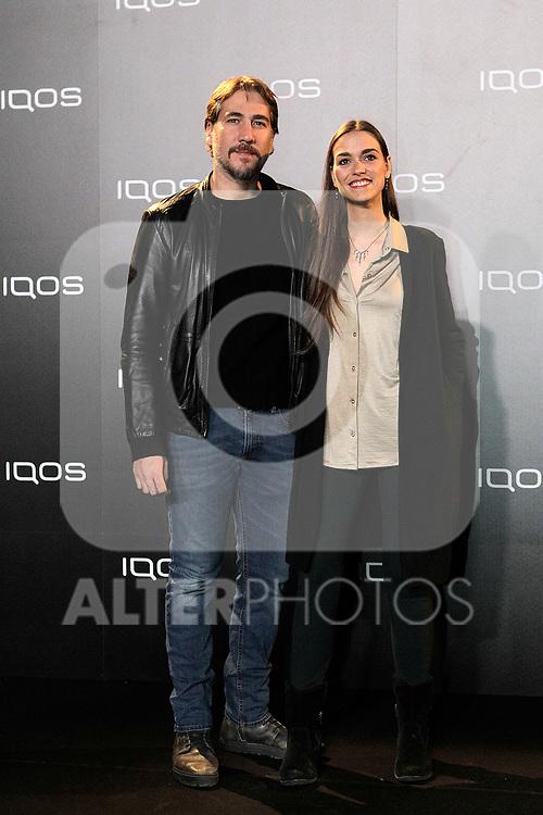 Alberto Ammann and Clara Mendez-Leite attends to IQOS3 presentation at Palacio de Cibeles in Madrid. February 10,2019. (ALTERPHOTOS/Alconada)
