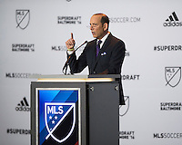 Baltimore, MD - January 14, 2015: Major League Soccer (MLS) held the 2016 SuperDraft at the Baltimore Convention Center.