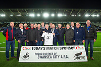 match day sponsor during the Sky Bet Championship match between Swansea City and Fulham at the Liberty Stadium in Swansea, Wales, UK. Friday 29 November 2019