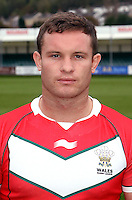 PICTURE BY IAN LOVELL/WRL...Rugby League - Wales Rugby League Headshots 2011 - 21/10/11...Wales Ian Webster.