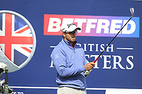Dean Burmester (RSA) on the 5th tee during Round 2 of the Betfred British Masters 2019 at Hillside Golf Club, Southport, Lancashire, England. 10/05/19<br /> <br /> Picture: Thos Caffrey / Golffile<br /> <br /> All photos usage must carry mandatory copyright credit (&copy; Golffile | Thos Caffrey)
