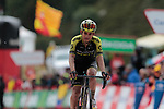 Esteban Chaves (COL) Mitchelton-Scott crosses the finish line at the end of Stage 9 of La Vuelta 2019 running 99.4km from Andorra la Vella to Cortals d'Encamp, Spain. 1st September 2019.<br /> Picture: Colin Flockton | Cyclefile<br /> <br /> All photos usage must carry mandatory copyright credit (© Cyclefile | Colin Flockton)