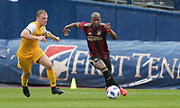 Nashville, TENN. - Saturday February 10, 2018: Darlington Nagbe during a preseason exhibition match between Nashville SC vs Atlanta United FC at First Tennessee Park.