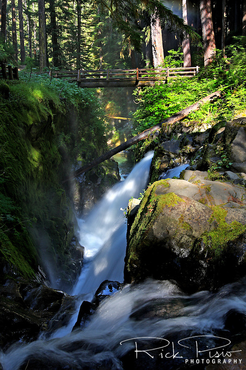 The Sol Duc Falls in Olympic National Park are located in the the northwest region of the park, 40 minutes west of Port Angeles.
