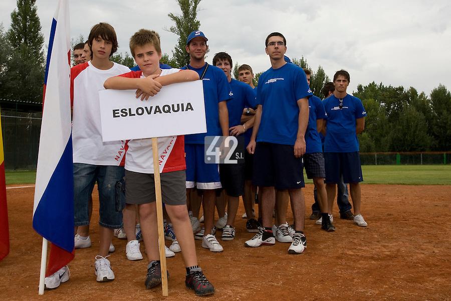 BASEBALL - EUROPEAN UNDER -21 CHAMPIONSHIP - PAMPELUNE (ESP) - 03 TO 07/09/2008 - PHOTO : CHRISTOPHE ELISE.CZECH REPUBLIC VS SPAIN (WINNER 6-2) - OPENING CEREMONY