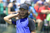 Tommy Fleetwood (ENG) on the 1st tee to start his match during Friday's Round 2 of the 117th U.S. Open Championship 2017 held at Erin Hills, Erin, Wisconsin, USA. 16th June 2017.<br /> Picture: Eoin Clarke | Golffile<br /> <br /> <br /> All photos usage must carry mandatory copyright credit (&copy; Golffile | Eoin Clarke)
