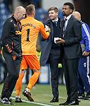19.09.2019 Rangers v Feyenoord: Steven Gerrard and Allan McGregor