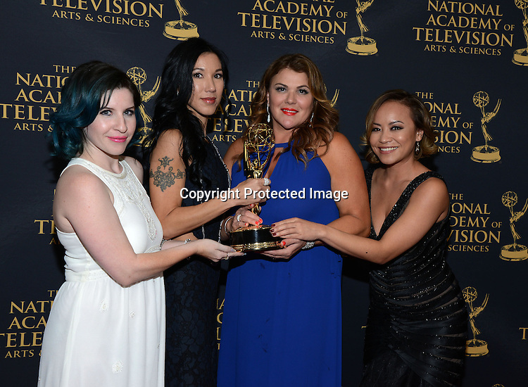 Young and Restless winners for Hair attends the Daytime Emmy Creative Arts Awards Press Room on April 24, 2015 at the Universal l Hilton in Universal City,<br /> California, USA.