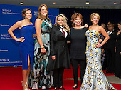 From left to right, the cast of The View Paula Faris, Michelle Collins, Raven- Symone, Joy Behar and Candace Cameron-Bure arrive for the 2016 White House Correspondents Association Annual Dinner at the Washington Hilton Hotel on Saturday, April 30, 2016.<br /> Credit: Ron Sachs / CNP<br /> (RESTRICTION: NO New York or New Jersey Newspapers or newspapers within a 75 mile radius of New York City)