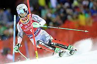 January 8th 2020, Madonna di Campiglio, Italy;  FIS Alpine Ski World Cup Men's Night Slalom in Madonna di Campiglio, Italy on January 8, 2020, Sebastian Foss-Solevaag (NOR)<br />  - Editorial Use