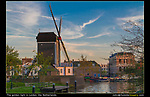 Netherlands, Leiden. <br /> Simple, maybe too simple. Saved by a nice sky and the golden light.  Windmill at sunset.