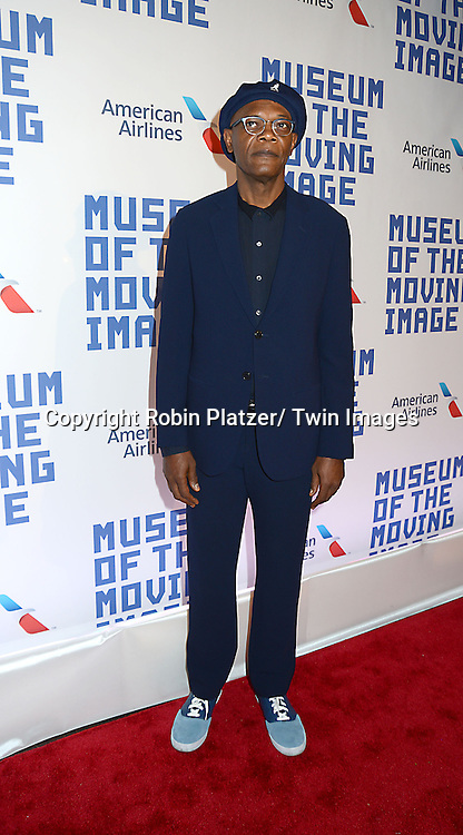Samuel L Jackson attends the Museum of the Moving Image Tribute to Kevin Spacey on April 9, 2014 at 583 Park Avenu in New York City, New York, United States of America.