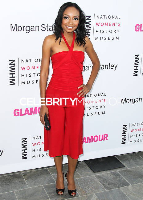 LOS ANGELES, CA, USA - AUGUST 23: Malina Moye arrives at The National Women's History Museum and Glamour Magazine's 3rd Annual Women Making History Brunch held at the Skirball Cultural Center on August 23, 2014 in Los Angeles, California, United States. (Photo by Xavier Collin/Celebrity Monitor)