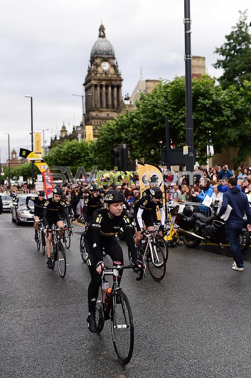Picture by Alex Broadway/SWpix.com - 05/07/2014 - Cycling - Tour de France 2014 Grand Depart - Stage 1, Leeds to Harrogate - Yorkshire, England - Les Cadets Juniors.