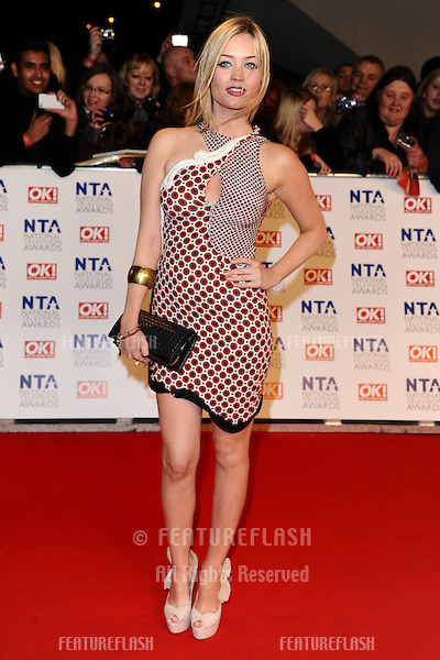 Laura Whitmore arriving for the National Television Awards, O2, London. 25/01/2012 Picture by: Steve Vas / Featureflash