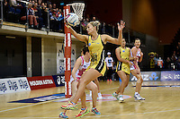 Pulse's Chelsea Locke in action during the ANZ Championship - Central Pulse v Adelaide Thunderbirds at Te Rauparaha Arena, Porirua, New Zealand on Sunday 12 June 2016. <br /> Photo by Masanori Udagawa. <br /> www.photowellington.photoshelter.com.