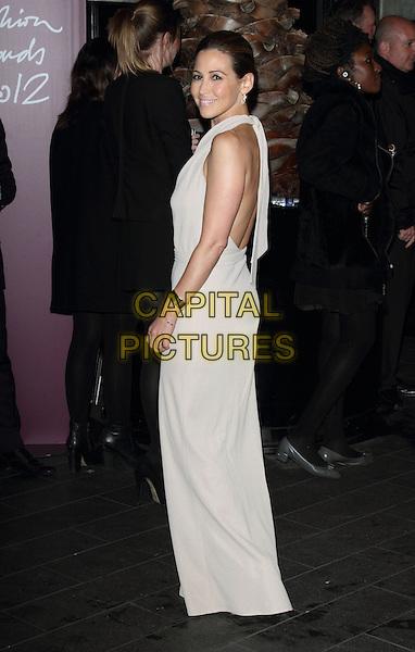 Rachel Stevens.The British Fashion Awards 2012, Savoy Hotel, The Strand, London, England..November 27th, 2012.full length white cream beige dress sleeveless side backless .CAP/ROS.©Steve Ross/Capital Pictures
