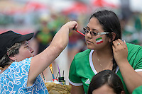 Houston, TX - Monday June 13, 2016: Fans prior to a Copa America Centenario Group D match between Colombia (COL) vs Costa Rica (CRC) at NRG Stadium.