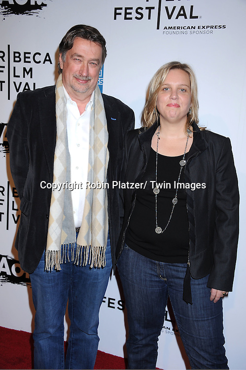 "Geoff Gilmore and Nancy Schafer attending The opening night of The Tribeca Film Festival .Screening of "" The Union"" on April 20, 2011 at The Winter Garden at the World Financial Plaza in New York City."
