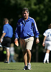 Robbie Church, Duke head coach, on Sunday, October 16th, 2005 at Duke University's Koskinen Stadium in Durham, North Carolina. The Duke University Blue Devils defeated the University of Maryland Terrapins 1-0 during an NCAA Division I Women's Soccer game.
