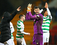 29th January 2020; McDairmid Park, Perth, Perth and Kinross, Scotland; Scottish Premiership Football, St Johnstone versus Celtic; Fraser Forster of Celtic applauds the supporters