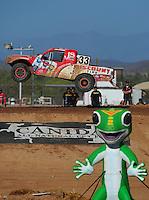 Apr 16, 2011; Surprise, AZ USA; LOORRS driver Jimmy Stephensen (33) during round 3 at Speedworld Off Road Park. Mandatory Credit: Mark J. Rebilas-.