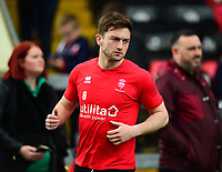 Lincoln City's Lee Frecklington during the pre-match warm-up<br /> <br /> Photographer Andrew Vaughan/CameraSport<br /> <br /> The EFL Sky Bet League Two - Lincoln City v Macclesfield Town - Saturday 30th March 2019 - Sincil Bank - Lincoln<br /> <br /> World Copyright © 2019 CameraSport. All rights reserved. 43 Linden Ave. Countesthorpe. Leicester. England. LE8 5PG - Tel: +44 (0) 116 277 4147 - admin@camerasport.com - www.camerasport.com