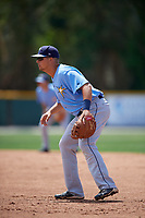 Tampa Bay Rays Nate Lowe (37) during a minor league Spring Training game against the Baltimore Orioles on March 29, 2017 at the Buck O'Neil Baseball Complex in Sarasota, Florida.  (Mike Janes/Four Seam Images)