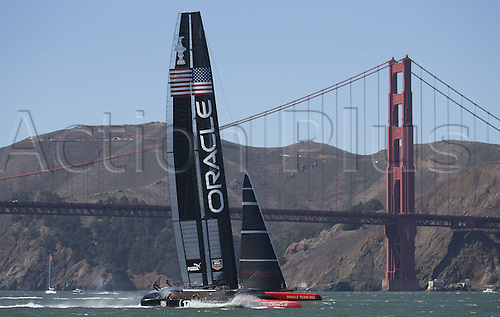 25.09.2013. San Francisco Bay, California, USA.  The 34th Americas  Cup Final Match Racing Day 15 Defenders Emirates team New Zealand