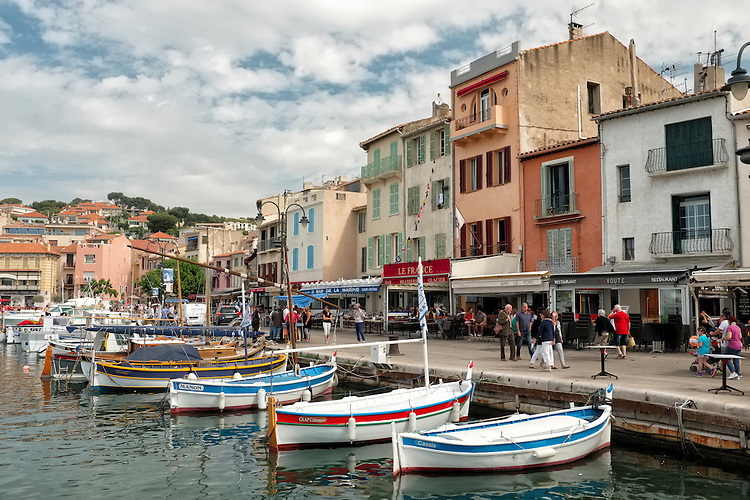 Fishermen still sell their day's catch in the picturesque port of Cassis.