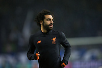 Liverpool's Mohamed Salah during the pre-match warm-up <br /> <br /> Photographer Craig Mercer/CameraSport<br /> <br /> UEFA Champions League Round of 16 First Leg - FC Porto v Liverpool - Wednesday 14th February 201 - Estadio do Dragao - Porto<br />  <br /> World Copyright &copy; 2018 CameraSport. All rights reserved. 43 Linden Ave. Countesthorpe. Leicester. England. LE8 5PG - Tel: +44 (0) 116 277 4147 - admin@camerasport.com - www.camerasport.com