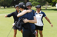 Manawatu Wanganui celebrate, 2019 New Zealand Women's Interprovincials, Maraenui Golf Club, Hawke's Bay, New Zealand, Saturday 06th December, 2019. Photo: Kerry Marshall/www.bwmedia.co.nz