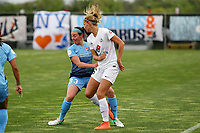 Piscataway, NJ - Sunday April 30, 2017: Erin Simon, Katie Bowen during a regular season National Women's Soccer League (NWSL) match between Sky Blue FC and FC Kansas City at Yurcak Field.