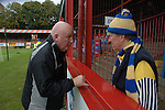 Aldershot Town 0 Torquay United 3, 15/08/2007. Recreation Ground, Football Conference.Torquay's first game in the Blue Square Premier. A 330 mile round trip to Aldershot Town's Recreation Ground. John Milton takes time to chat to some of the Torquay United travelling support.