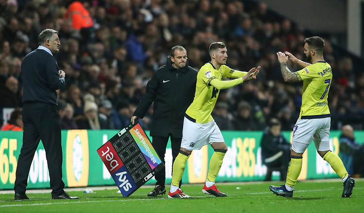 Blackburn Rovers' Joe Rothwell replaces Blackburn Rovers' Adam Armstrong in the second half <br /> <br /> Photographer Rachel Holborn/CameraSport<br /> <br /> The EFL Sky Bet Championship - Preston North End v Blackburn Rovers - Saturday 24th November 2018 - Deepdale Stadium - Preston<br /> <br /> World Copyright © 2018 CameraSport. All rights reserved. 43 Linden Ave. Countesthorpe. Leicester. England. LE8 5PG - Tel: +44 (0) 116 277 4147 - admin@camerasport.com - www.camerasport.com