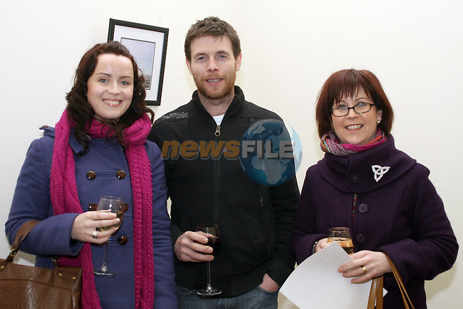 Helen McManus, Mark Durnin and Anne McManus at the Launch of Eric O'Neill's exhibition...Photo NEWSFILE/Jenny Matthews.(Photo credit should read Jenny Matthews/NEWSFILE)....This Picture has been sent you under the condtions enclosed by:.Newsfile Ltd..The Studio,.Millmount Abbey,.Drogheda,.Co Meath..Ireland..Tel: +353(0)41-9871240.Fax: +353(0)41-9871260.GSM: +353(0)86-2500958.email: pictures@newsfile.ie.www.newsfile.ie.FTP: 193.120.102.198.
