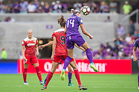 Orlando, FL - Saturday April 22, 2017: Havana Solaun, Alanna Kennedy during a regular season National Women's Soccer League (NWSL) match between the Orlando Pride and the Washington Spirit at Orlando City Stadium.