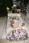 Simone Signoret Yves Montand grave site in Paris, France on August 18, 1998.