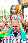 Brooke and Jamie O'Connor at Tralee Saint Patrick's day parade on Tuesday.