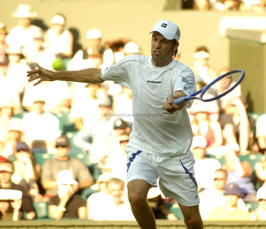 Photo. Jed Wee..Wimbledon Championships. 22/06/2005..Greg Rusedski.